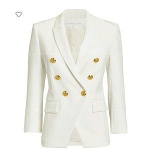 Veronica Beard Empire Dickey Embossed Button Jacke